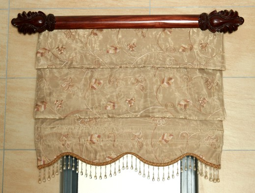Roman Blind with Scallop & Fringe